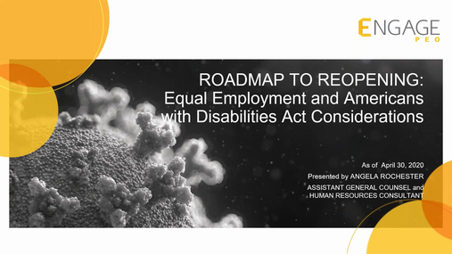 Roadmap to Reopening : Equal Employment and ADA Considerations