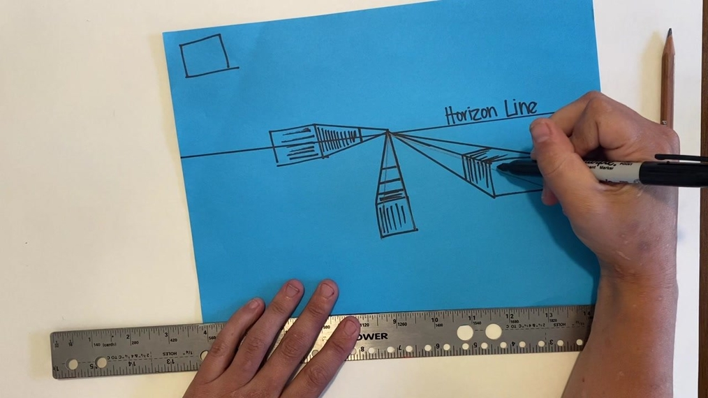 Art 1 1 point perspective boxes
