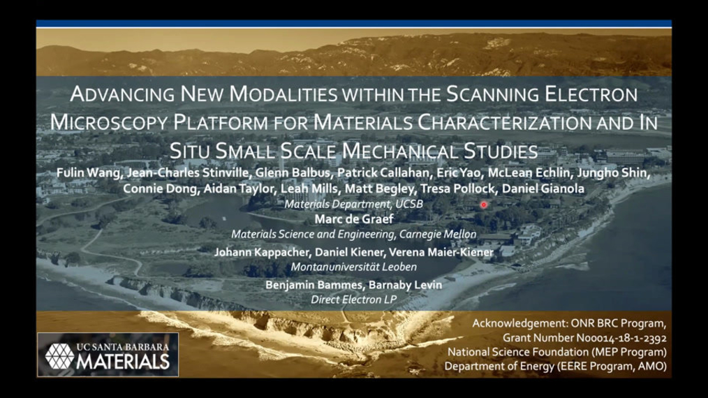 Advancing New Modalities within the Scanning Electron Microscopy Platform for Materials Characterization and In Situ Small Scale Mechanical Studies