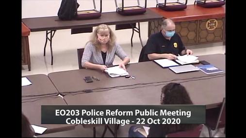 EO203 Police Reform Public Meeting - Cobleskill Village - 22 Oct 2020