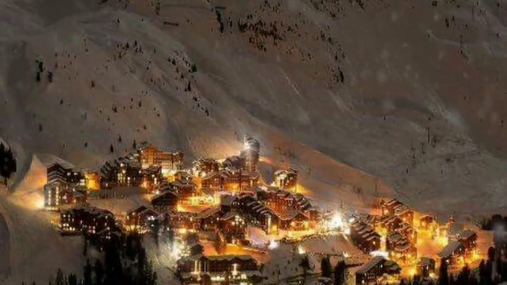 Night look of the mountain village