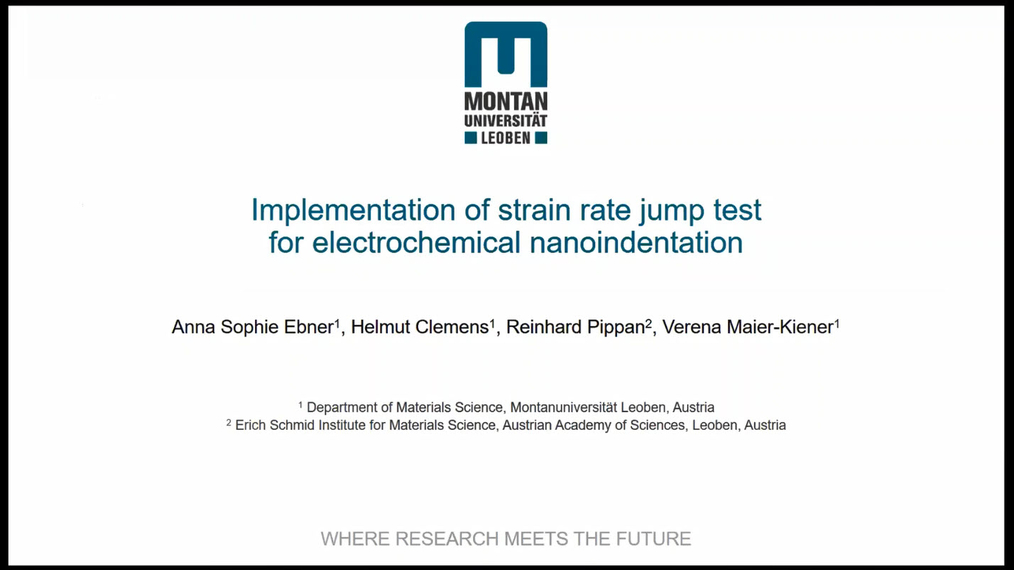 Anna Ebner: Implementation of strain rate jump test  for electrochemical nanoindentation