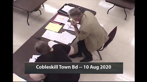 Cobleskill Town Bd -- 10 Aug 2020