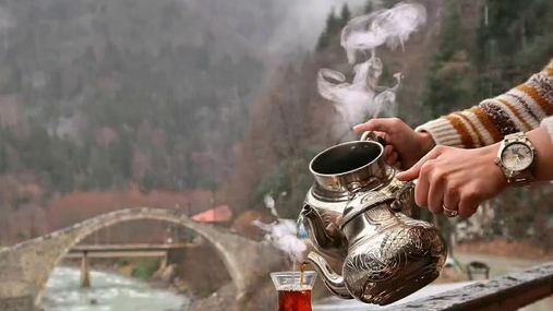 steam, tea, birds, river
