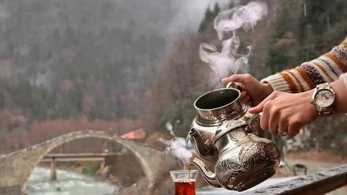 steam, tea, birds, river