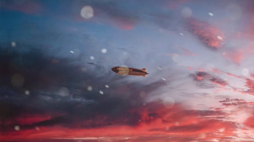 Airship on the sky