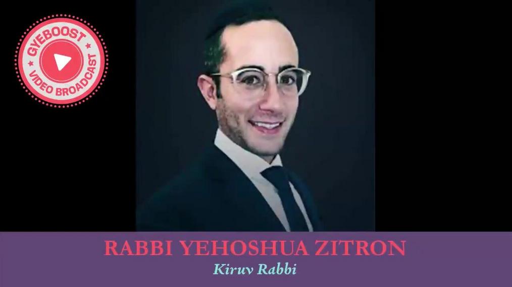 592 - Rabbi Yehoshua Zitron - MITZVA HABA BE'AVEIRA