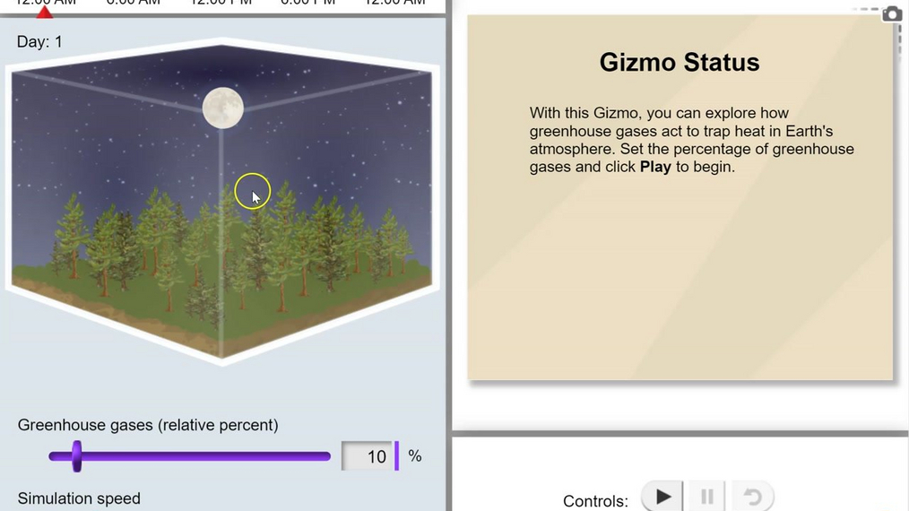 Topic 4: Greenhouse Effect Gizmo