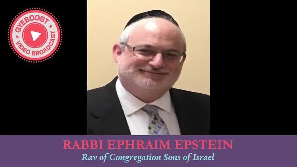 702 - Rabbi Ephrain Epstein - La Luz disipa la oscuridad [Shovavim]