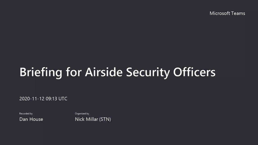 Briefing for Airside Security Officers.mp4