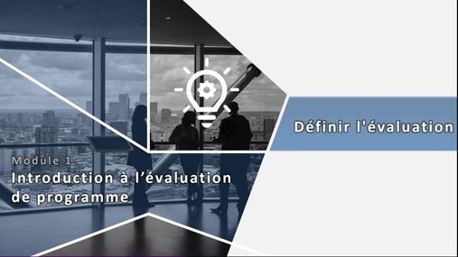 PAP 4710 - 1.3 Définir l'évaluation