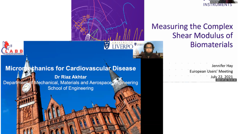 Measuring the Complex Shear Modulus of Biomaterials AND Micromechanics for Cardiovascular Disease