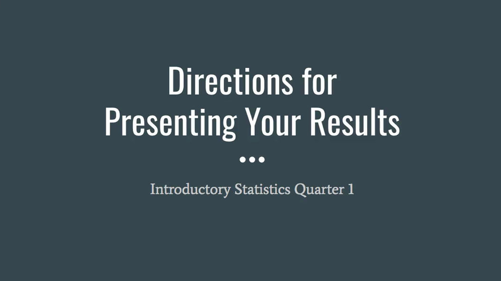 NEW Step 5 - Presenting Your Results.mp4