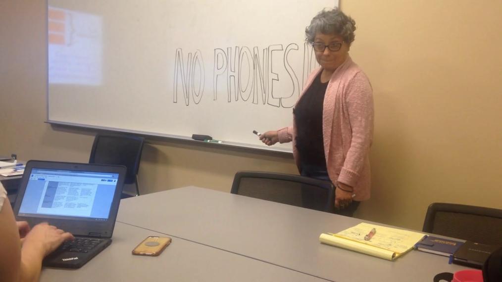 NO PHONES!!!
