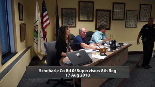 Schoharie Co Bd of Supervisors 8th Reg -- 17 Aug 2018