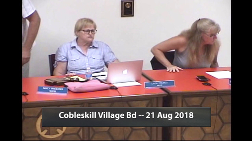 Cobleskill Village Bd -- 21 Aug 2018