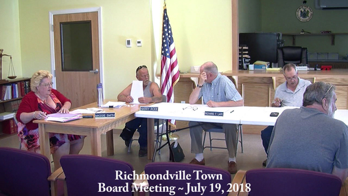 Richmondville Twn Brd -- July 19, 2018