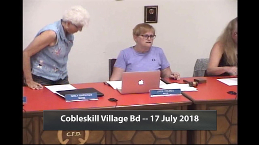 Cobleskill Village Bd -- 17 July 2018