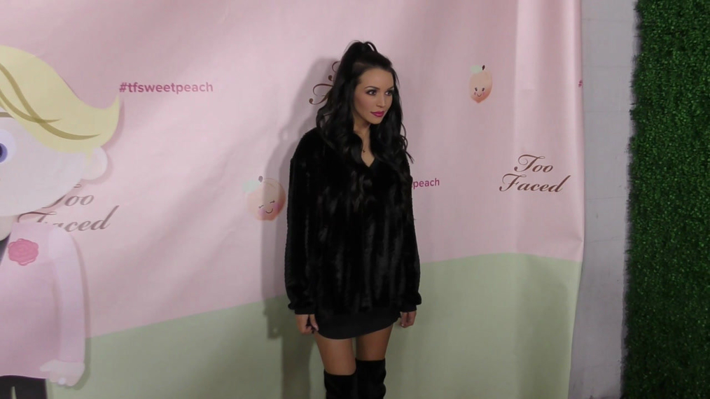 Scheana Shay at the Too Faced's Sweet Peach Launch Party at The Lot in Hollywood.mp4