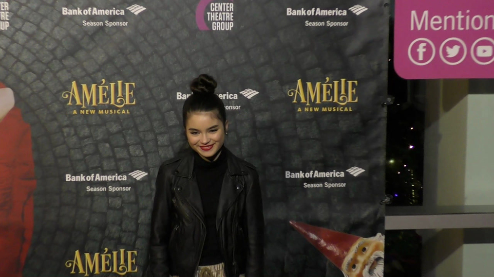 Landry Bender at the Amelie A New Musical Opening Night at Ahmanson Theatre in Los Angeles.mp4
