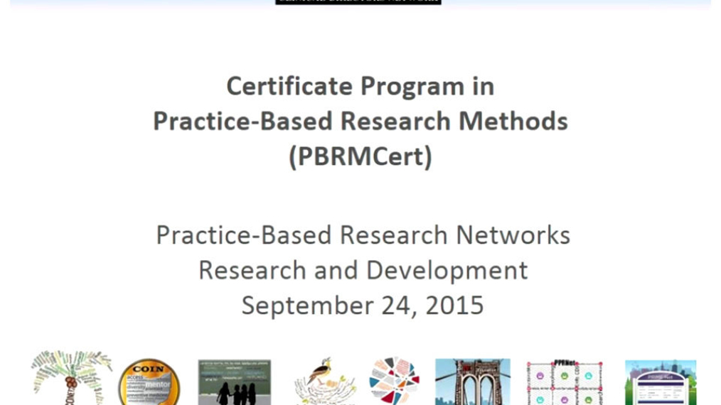 Introduction and theory of Practice-Based Research Networks