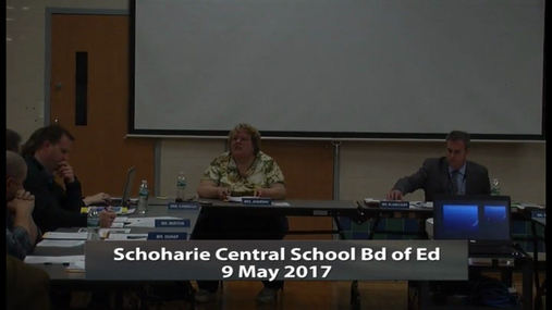 SCS Bd of Ed -- 9 May 2017