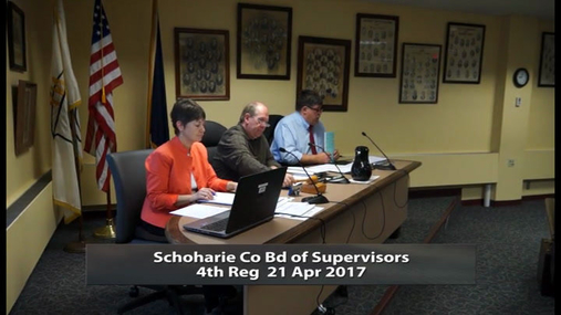 Schoharie Co Bd of Supervisors 4th Reg 21 Apr 2017