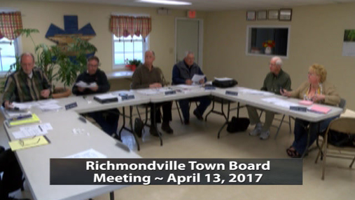 Richmondville Twn. Board -- 4-13-2017