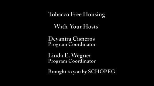 Tobacco Free Housing 5-2017
