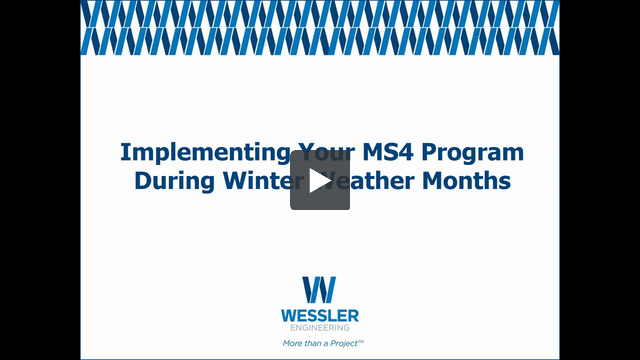 Webinar implementing MS4 program during winter