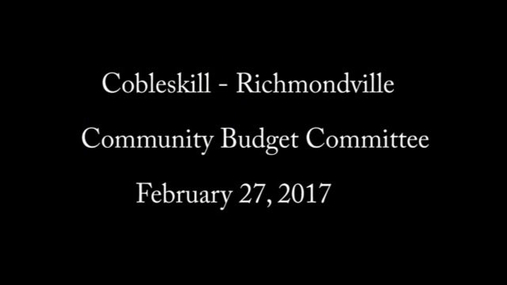 CRCS Budget Committee -- 2-27-2017