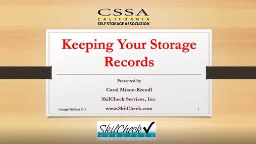 Keeping Your Storage Records.wmv