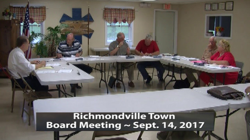 Richmondville Twn. Board -- 9-14-2017
