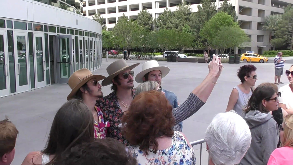 Midland outside ACM Awards Radio Row at T-Mobile Arena in Las Vegas.mp4