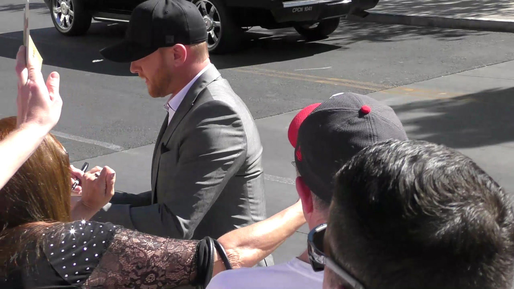 Cole Swindell arriving to the 52nd Academy Of Country Music Awards at T-Mobile Arena in Las Vegas.mp4