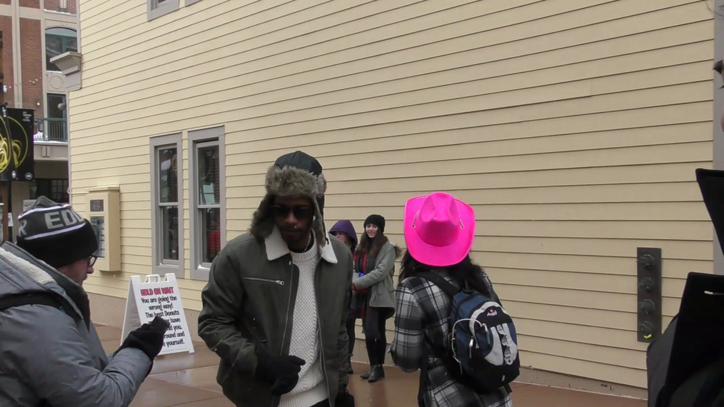 LaKeith Stanfield on Main Street at Sundance Film Festival in Park City.mp4