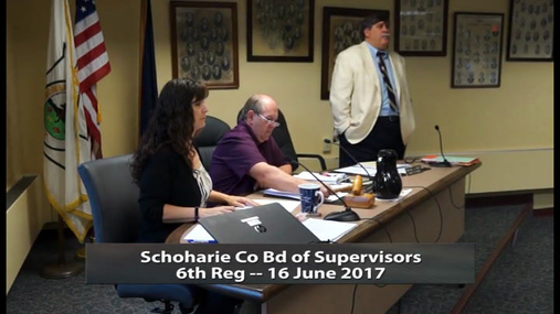 Schoharie Co Bd of Supervisors 6th Reg -- 16 June 2017