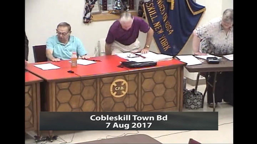 Cobleskill Town Bd --  7 Aug 2017