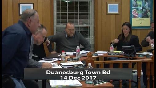 Duanesburg Town Bd -- 14 Dec 2017