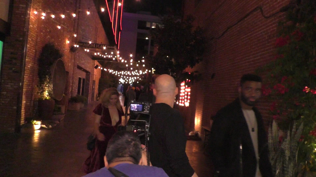 Sasha Pieterse and Hudson Sheaffer outside TAO Restaurant in Hollywood.mp4