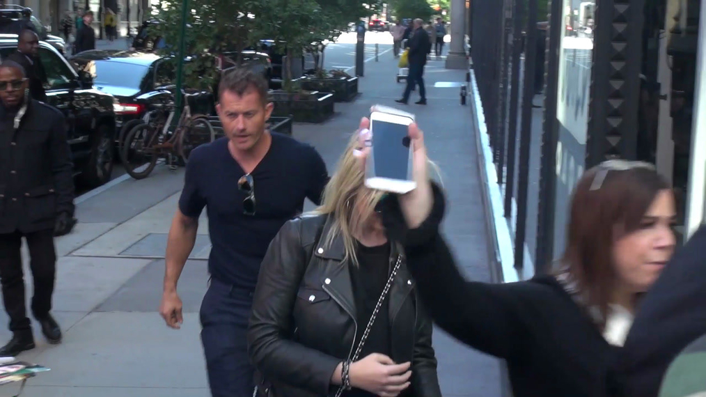 James Badge Dale outside the BUILD Series in New York.mp4