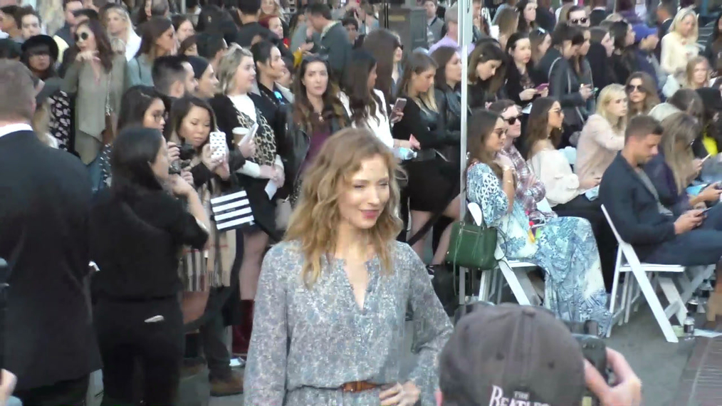 Beth Riesgraf at the Rebecca Minkkoff's See Now, Buy Now Fashion Show at The Grove in Hollywood.mp4