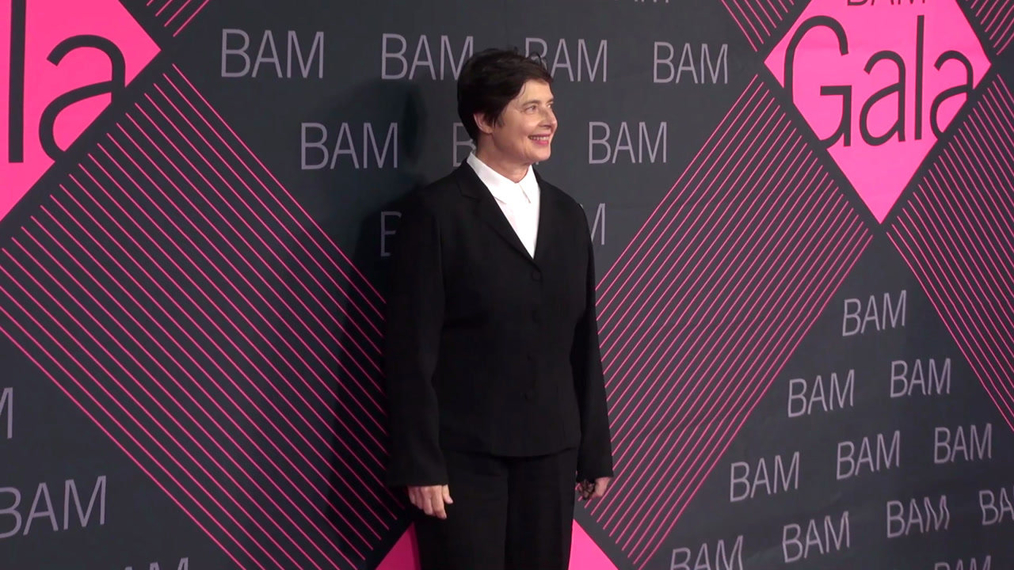 Isabella Rossellini attends the BAM Gala 2018 at Brooklyn Cruise Terminal in New York.mp4