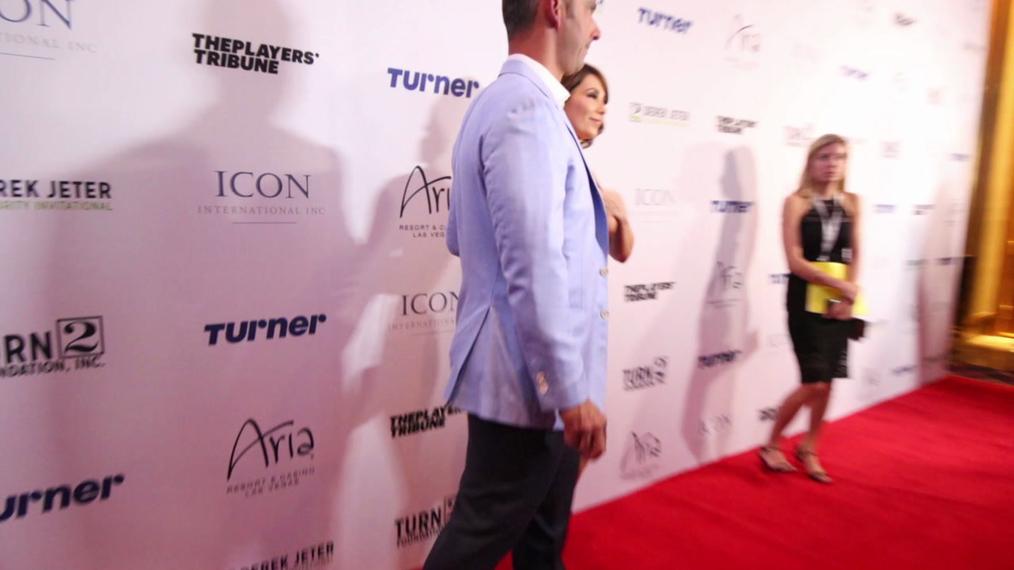 Jorge Posada attends the 2018 Derek Jeter Celebrity Invitational Gala at the Aria Resort & Casino in Las Vegas.mp4