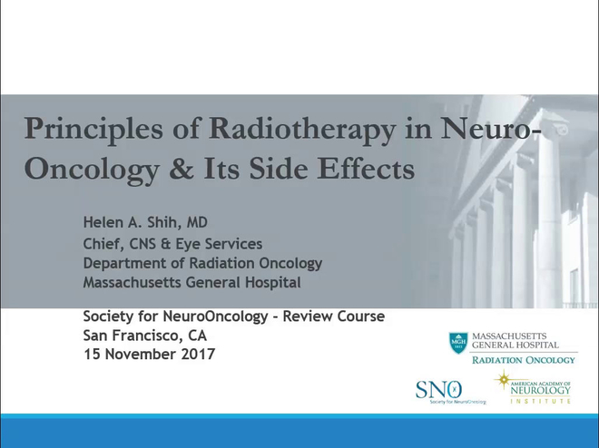 Principles of Radiotherapy in Neuro-Oncology and Its Side Effects