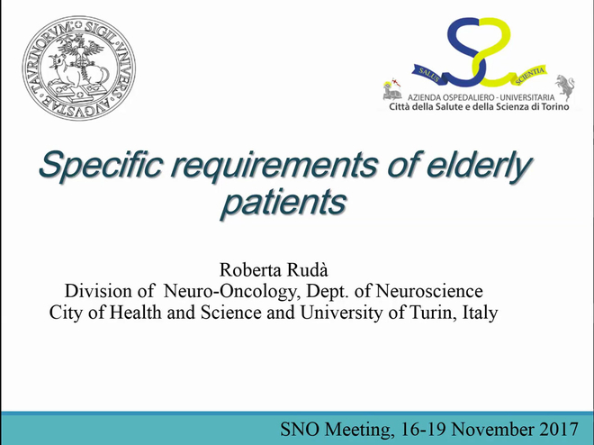 Specific Requirements of Elderly Patients