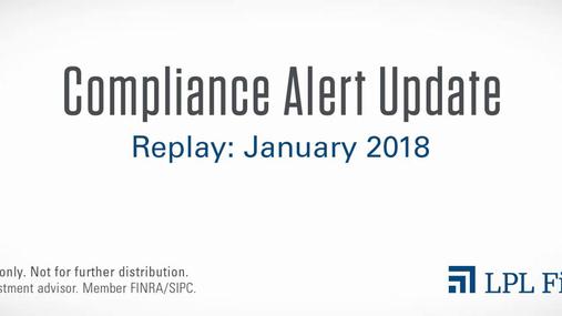 Compliance Replay: January 2018