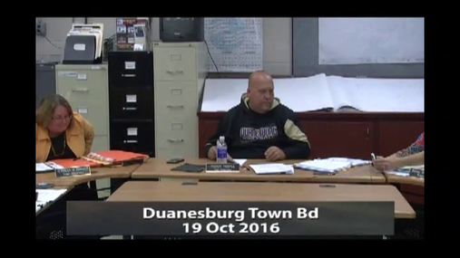 Duanesburg Town Bd -- 19 Oct 2016