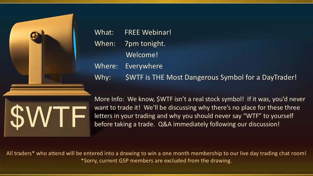 THE most dangerous symbol:  $WTF - A FREE Webinar