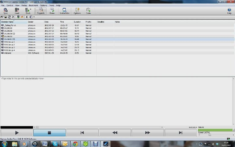 Transcribe up to one hour of audio dictation